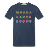 Rainbow We Shall Overcome Men's Premium Organic T-Shirt - navy