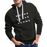 We Shall Overcome Men's Premium Hoodie - charcoal gray