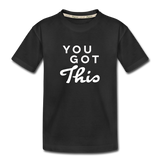 You Got This Wings Toddler Premium Organic Cotton T-Shirt - black