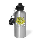 Pure Love Morning Lotus Fall 2019 Aluminum Water Bottle - silver