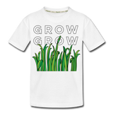 Grow Grow Wings Kid's Premium Organic Cotton T-Shirt - white