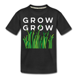 Grow Grow Wings Kid's Premium Organic Cotton T-Shirt - black