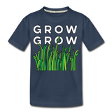 Grow Grow Wings Kid's Premium Organic Cotton T-Shirt - navy