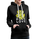 Pure Love Lotus Women's Premium Hoodie - charcoal gray