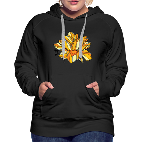 Orange Lotus Random Act Women's Premium Hoodie - black