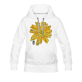 Sunflower Random Act Women's Premium Hoodie - white