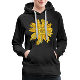 Sunflower Random Act Women's Premium Hoodie - black