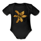 Tiger Lily Random Act Organic Cotton Short Sleeve Baby Bodysuit - black