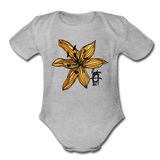 Tiger Lily Random Act Organic Cotton Short Sleeve Baby Bodysuit - heather gray