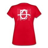 XO Random Act Women's V-Neck T-Shirt - red