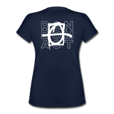 XO Random Act Women's V-Neck T-Shirt - navy