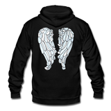 Glow Random Act with Wings Unisex Fleece Zip Hoodie - black