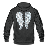 Glow Random Act with Wings Unisex Fleece Zip Hoodie - charcoal gray
