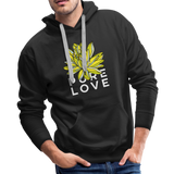 Pure Love Lotus Boyfriend Premium Hoodie - black