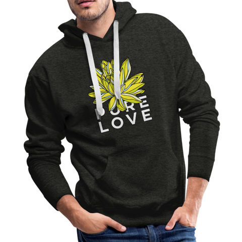 Pure Love Lotus Boyfriend Premium Hoodie - charcoal gray
