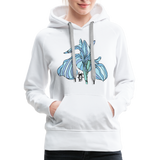 Blue Iris Wings Random Act Women's Premium Hoodie - white