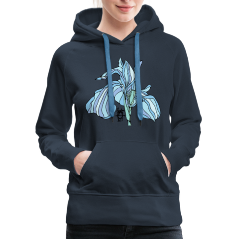Blue Iris Wings Random Act Women's Premium Hoodie - navy