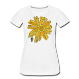 Sunflower Random Act Women's Premium Organic Cotton T-Shirt - white