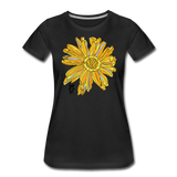 Sunflower Random Act Women's Premium Organic Cotton T-Shirt - black