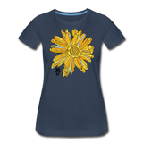 Sunflower Random Act Women's Premium Organic Cotton T-Shirt - navy