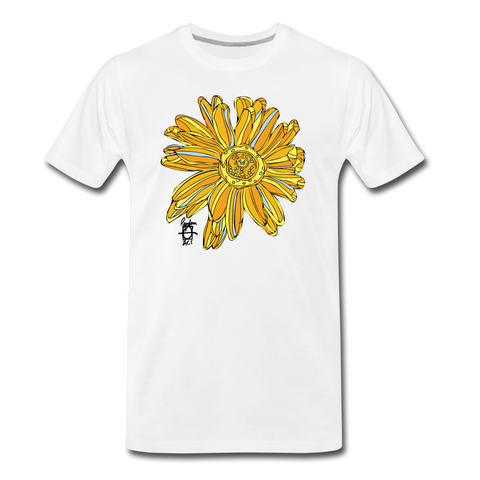 Sunflower Men's Surferer Premium Organic Cotton T-Shirt - white