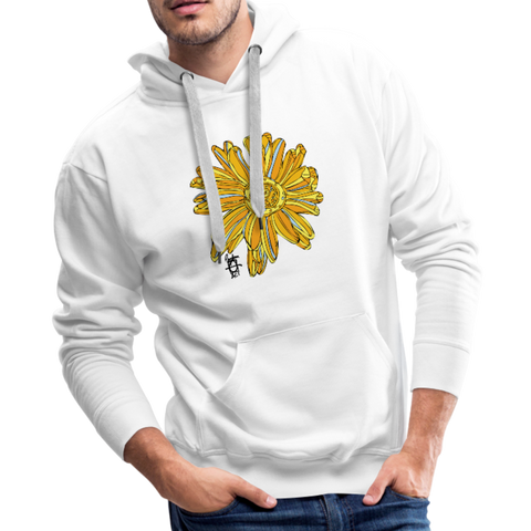 Sunflower Men's Surfer Premium Cotton Hoodie - white