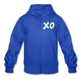 Neon XO Sunflower Heavy Blend Surfer Youth Zip Hoodie - royal blue