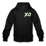 Neon XO Sunflower Heavy Blend Surfer Youth Zip Hoodie - black