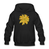 Sunflower Heavy Blend Surfer Youth Hoodie - black