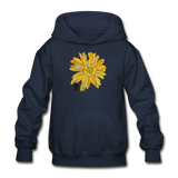 Sunflower Heavy Blend Surfer Youth Hoodie - navy