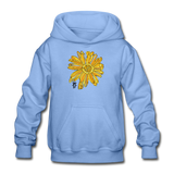 Sunflower Heavy Blend Surfer Youth Hoodie - carolina blue