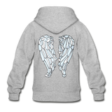 Neon Random Act Wings Heavy Blend Youth Zip Hoodie - heather gray