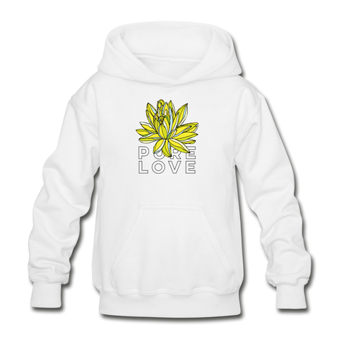 Pure Love Lotus Kids' Premium Hoodie - white