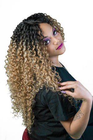 Luxurious Hair Wig, premium quality, Zury Sis, pre-tweezed part, spiral curls
