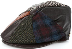 Gatsby 8 Panel Wool Newsboy Paperboy Snap Brim Cap