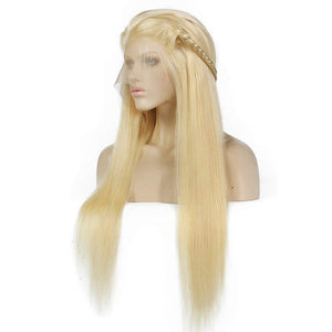BlondE 613 Brazilian Remy Hair 130density 13x6 deep middle part lace front human hair  With Baby Hair