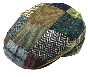 Men's Flat Cap Patchwork 100% Lambswool Made in Ireland