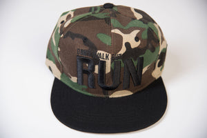 Don't Walk but Run - Camo Snapback Baseball Cap