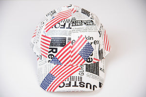 Newspaper Snapback Hat