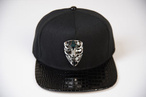 V for Vendetta Snapback Hat / Silver Mask