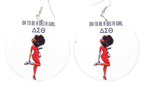 """Oh to be a Delta Girl"" drop earrings"