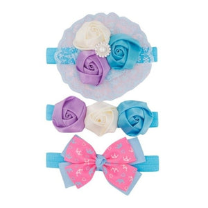 Hot sale 3Pcs Kids Floral Headband Hair Girls baby