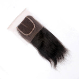 8A, 4x4 Silky Straight Lace Closure