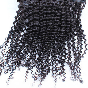 Brazilian Kinky Curly Clip Ins - Human Hair Extensions 7 Pcs 120 Grams/Set