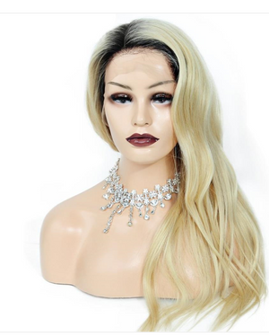 Ombre 1B/Blonde Glueless Lace Front Wig