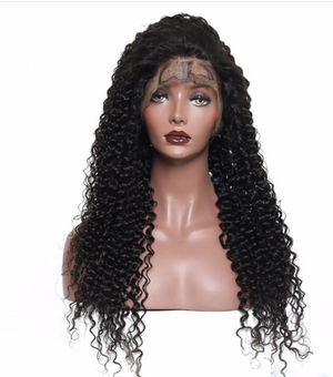 Peruvian pre-plucked full lace wig - Kinky Curly