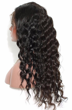 Peruvian pre-plucked full lace wig - Loose Wave