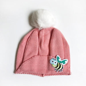 Winter Hats For Kids Knitted Caps Cute Bee