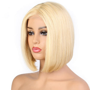 613 Blonde Lace Front Wig Natural Hairline Brazilian Remy Short Bob