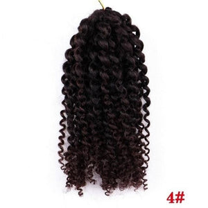 "8"" 1PC 30g Marley Bob Crochet Braids Beauty Ombre hair Synthetic Braiding Hair Extensions for Women"